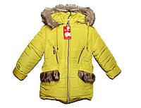Пальто детское зимние на овчине для девочки., фото 1