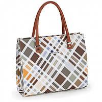 Женская сумка Dolly 464 классическая в клетку среднего размера