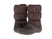Зимние сапоги Crocs Winter Puff Boot, коричневые, W8