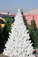 Ёлка литая белая 150 см иголки литая леска, кристально белая