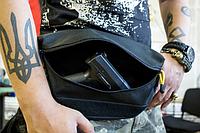 Поясная сумка (бананка) BIG BLACK WAIST BAG Cordura