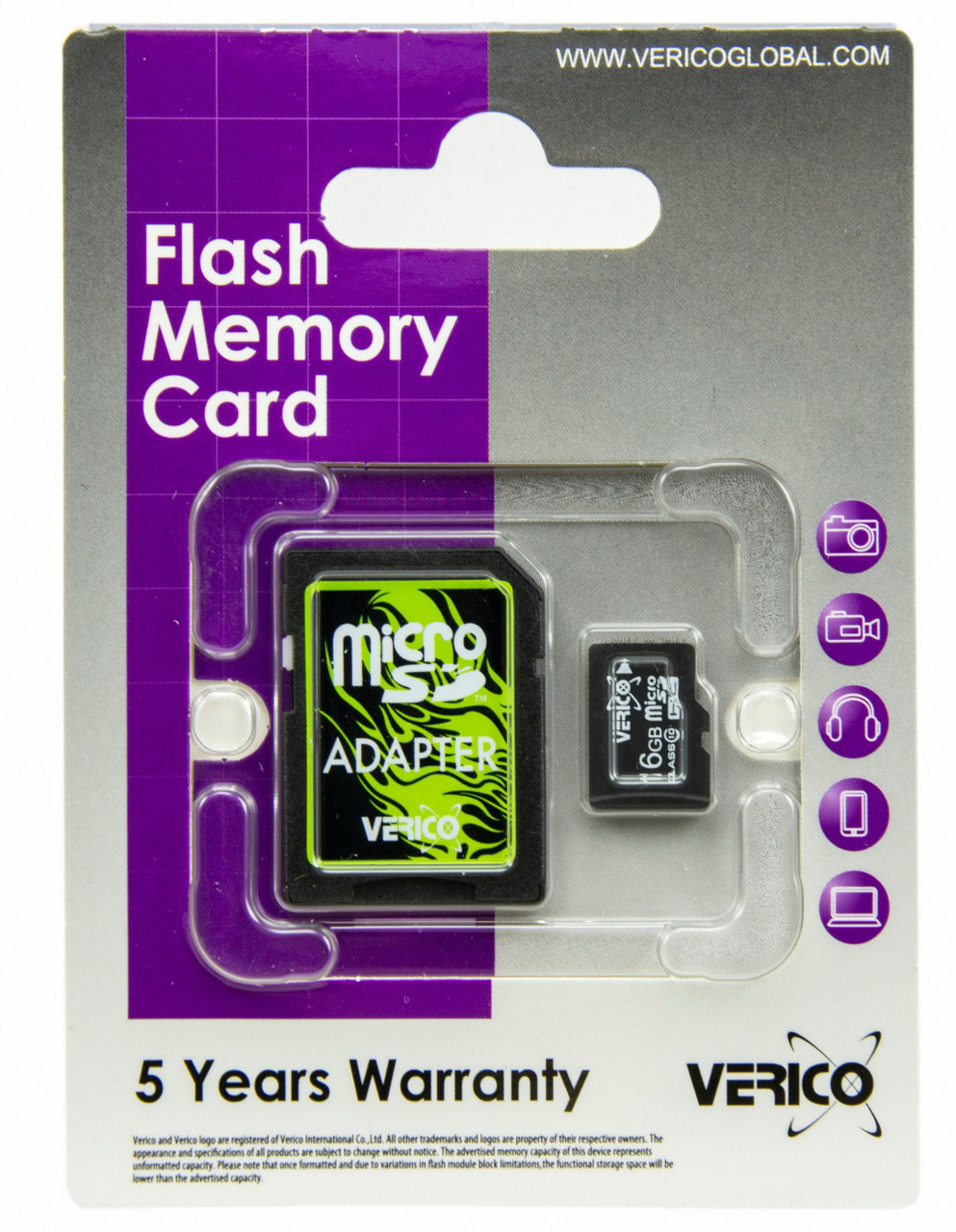 Карта памяти Verico MicroSDHC 16GB Class 10+SD adapter