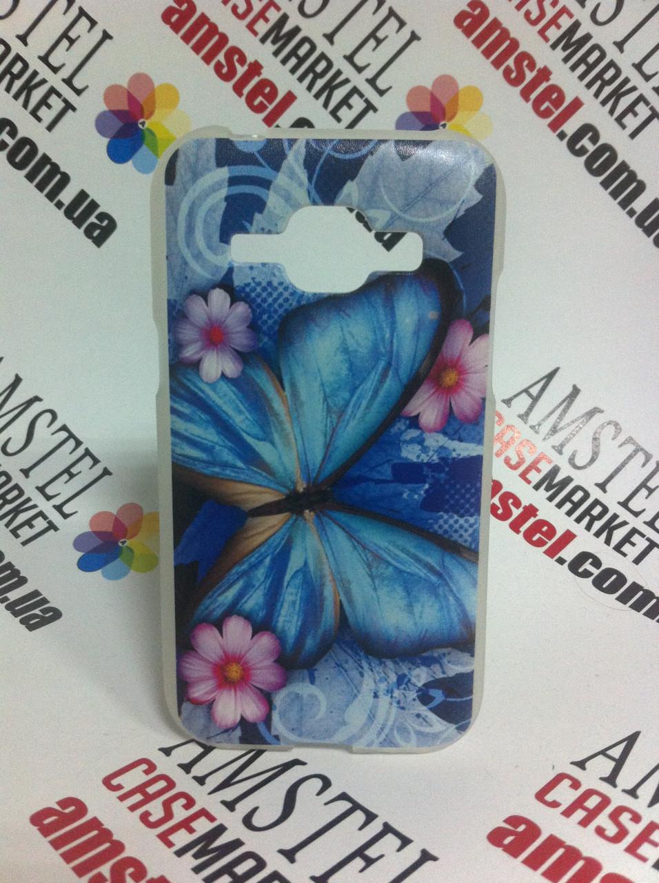 Чехол для Samsung Galaxy J1 J100 с картинкой -  Бабочка на цветах