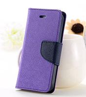 Фиолетовый чехол-книжка для Iphone 4/4S на магнитной застежке и с ремешком на руку