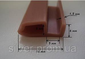 Уплотнительный шнур резиновый термостойкий (16мм х 6мм)