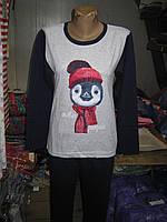 Пижама женская ASMA с начесом Winter Pinguin