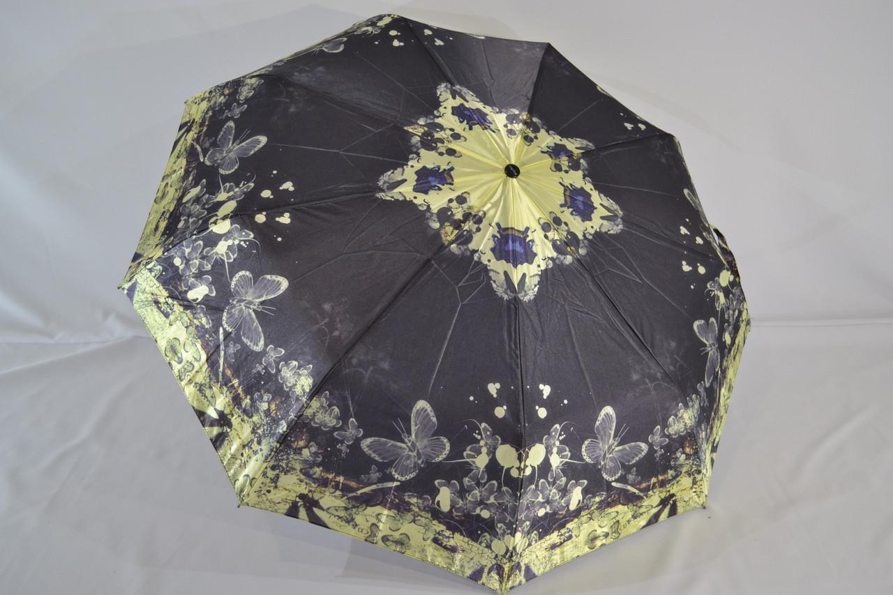 """Женский зонтик автомат сатин с орхидеями от фирмы """"King Rain""""."""