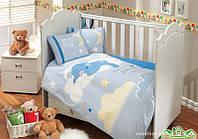 КПБ HOBBY детский Sateen Sleeper голубой 100*150/2*35*45