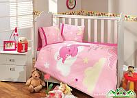 КПБ HOBBY детский Sateen Sleeper розовый 100*150/2*35*45