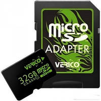 Карта памяти Verico MicroSDHC 32GB Class 10+SD adapter