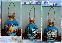 Новогоднее оформление бутылки оригинальный подарок на новый год, фото 1