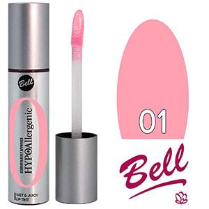 Bell HypoAllergenic Блеск для губ Wet&Juicy LipTint Тон №01 пастельный розовый, глянцевый