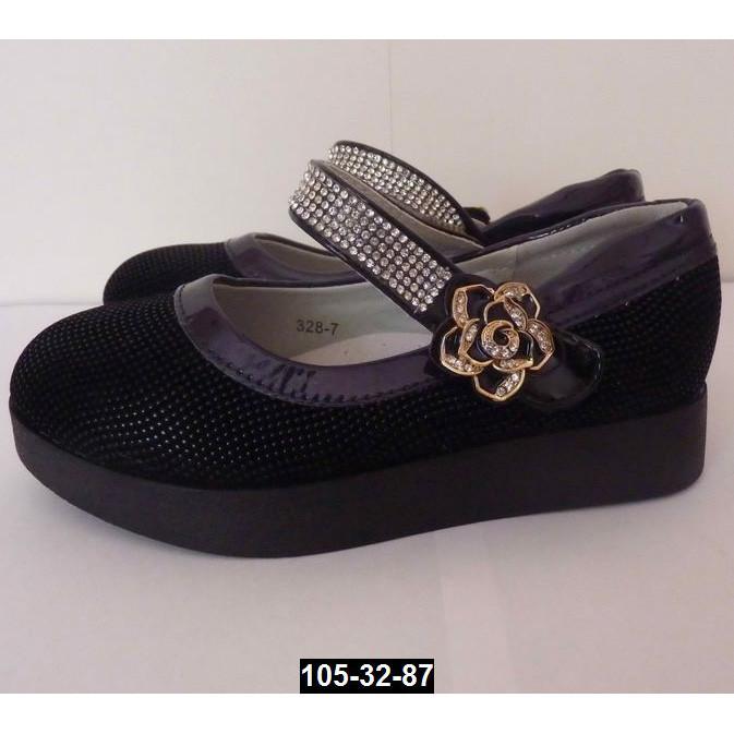 Туфли для девочки, 27 размер, супинатор, кожаная стелька
