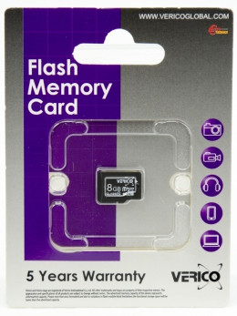 Карта памяти Verico MicroSDHC 8GB Class 10 (card only)
