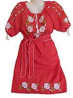 """Жіноче вишите плаття """"Витончені троянди"""" (Женское вышитое платье """"Изящные розы"""") PL-0012"""