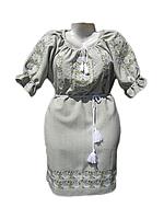 "Жіноче вишите плаття ""Тендітні троянди"" (Женское вышитое платье ""Хрупкие розы"") PL-0010"