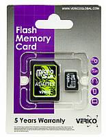 Карта памяти Verico MicroSDHC 8GB Class 4+SD adapter