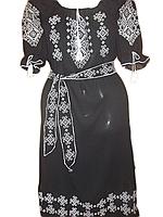 """Жіноче вишите плаття """"Вишуканий узор"""" (Женское вышитое платье """"Изысканный узор"""") PL-0001"""