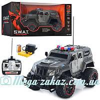 Джип на радиоуправлении SWAT Police, 39,5см: аккумулятор + резиновые колеса + свет