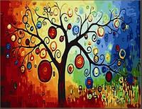 """KHO 230  """"Дерево богатства"""" Роспись по номерам на холсте (без коробки) 40х50см"""