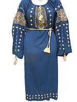"""Жіноче вишите плаття """"Золотистий узор"""" (Женское вышитое платье """"Золотистый узор"""") PL-0006"""