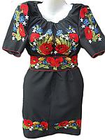 """Жіноче вишите плаття """"Польові квіти"""" (Женское вышитое платье """"Полевые цветы"""") PL-0009"""