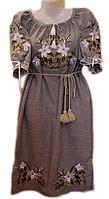 """Жіноче вишите плаття """"Букет лілій"""" (Женское вышитое платье """"Букет лилий"""") PL-0014"""