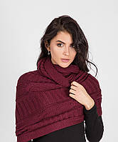 Качественный женский вязанный шарф-накидка