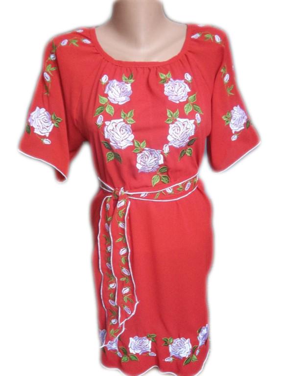"Жіноче вишите плаття ""Іворі"" (Женское вышитое платье ""Ивори"") PL-0018"