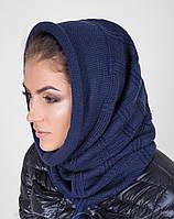 Теплый женский вязанный капор-хомут