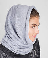 Молодежный женский вязанный капор-хомут