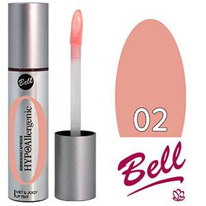 Bell HypoAllergenic Блеск для губ Wet&Juicy LipTint Тон №02 пастельный нюд, глянцевый