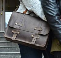 Классический портфель из натуральной кожи ручной работы