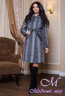 Женское теплое пальто батальных размеров (р. 44-56) арт. 811 Тон 13