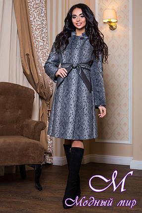 Женское теплое пальто батальных размеров (р. 44-56) арт. 811 Тон 13, фото 2