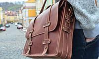 Оригинальный портфель ручной работы из кожи