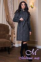Женское теплое осеннее пальто больших размеров (р. 44-56) арт. 811 Тон 12
