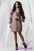 Женское стильное пальто больших размеров (р. 44-60) арт. 971 Тон 7510