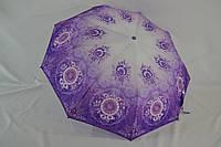 """Женский зонт полуавтомат цветок на 9 спиц """"анти ветер"""" от фирмы """"King Rain""""."""