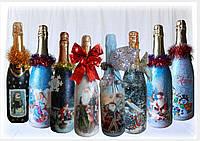 Подарки на новый год Новогоднее оформление шампанского