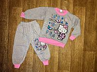 "Теплая пижама ""Китти"" на девочку от 3-6 лет"