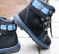 Детская кожаная зимняя обувь  для мальчиков разм. 22,24