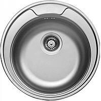 Кухонна мийка Deante CORNETTO PLUS 1-камерна, c декором Ø480 мм.