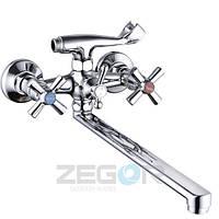 Смеситель для ванны ZEGOR T61-DFR Прямой