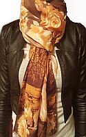 Палантин женский шелк-шерсть «Париж»