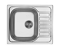 Кухонная мойка Deante SOUL 1-камерная оборотная, с крылом, сатина, 580х500х170 мм