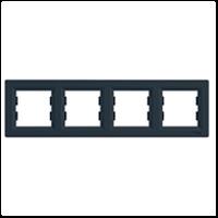 Блок-рамка SCHNEIDER ASFORA EPH5800471 4-я гориз.антрацит