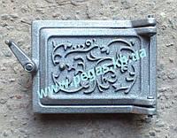 Дверца прочистная чугунная сажетруска 100х140 мм