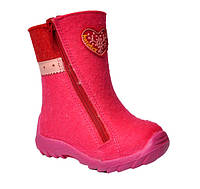 Детские валенки Котофей для девочек розового цвета