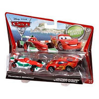 Игрушечные машинки 'Francesco Bernoulli и Lightning McQueen Party Wheels', из серии 'Тачки-2', Mattel